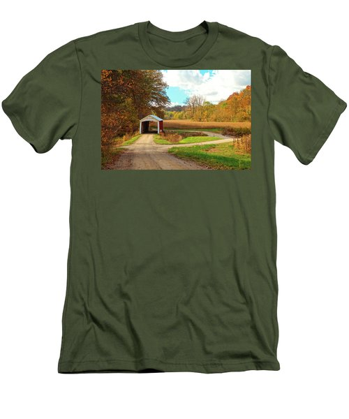 Fall Harvest - Parke County Men's T-Shirt (Slim Fit) by Harold Rau