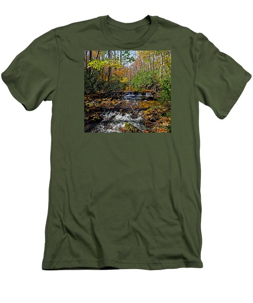 Fall In Cataloochee Men's T-Shirt (Athletic Fit)