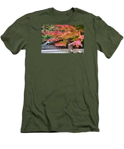 Men's T-Shirt (Slim Fit) featuring the photograph Fall In Japan by Tad Kanazaki