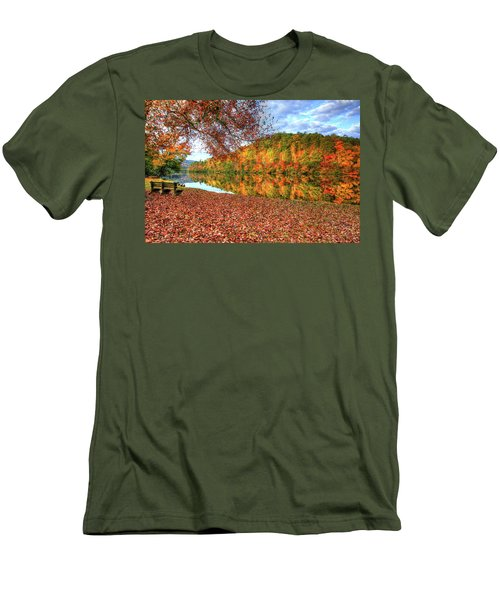 Men's T-Shirt (Slim Fit) featuring the digital art Fall In Murphy, North Carolina by Sharon Batdorf