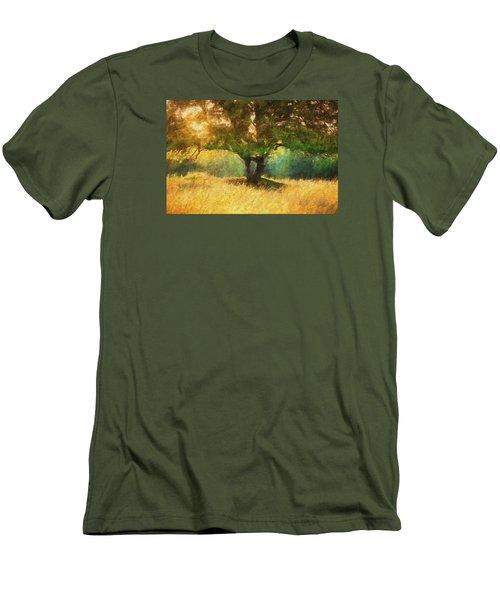Fall In The Meadow Men's T-Shirt (Slim Fit) by Rena Trepanier