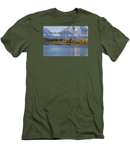 Men's T-Shirt (Slim Fit) featuring the photograph Fall Inteton -3 by Shirley Mitchell