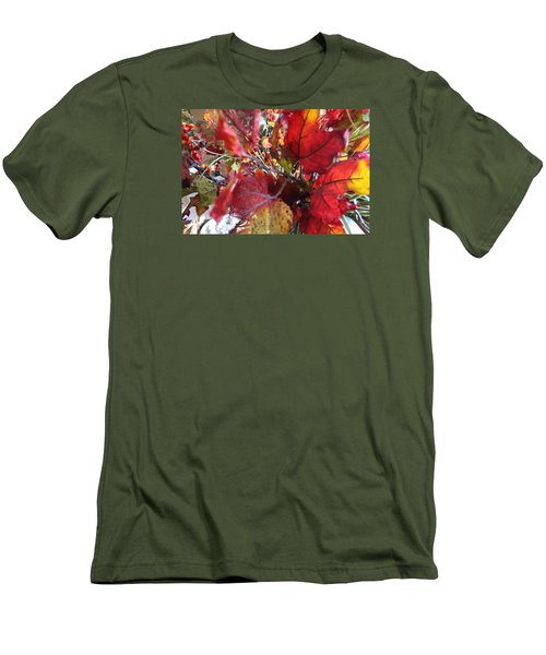 Fall Leaves Design 1 Men's T-Shirt (Athletic Fit)