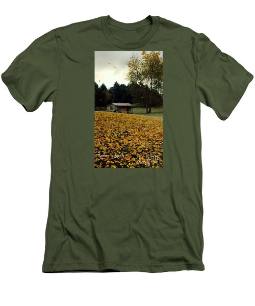 Men's T-Shirt (Slim Fit) featuring the photograph Fall Leaves - No. 2015 by Joe Finney