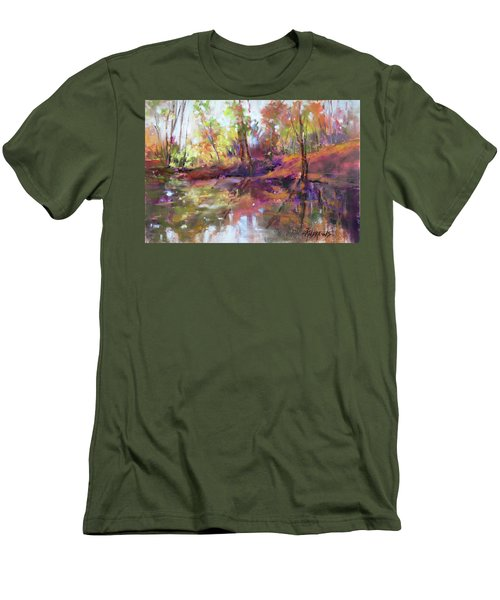 Fall Millpond Men's T-Shirt (Athletic Fit)