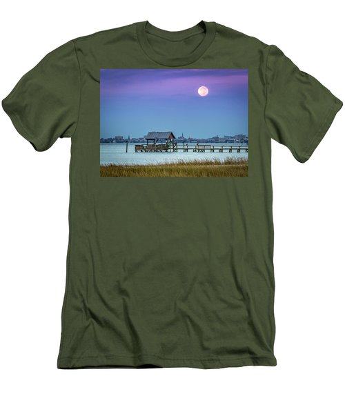 Fall Moon And King Tide - Charleston Sc Men's T-Shirt (Athletic Fit)