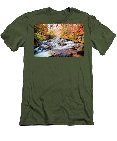 Fall Morning At Gunstock Brook Men's T-Shirt (Slim Fit) by Robert Clifford