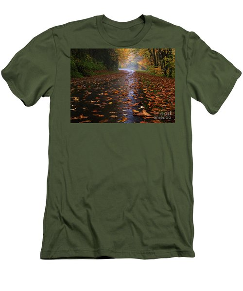 Fall Morning, Great Smoky Mountains National Park Men's T-Shirt (Athletic Fit)