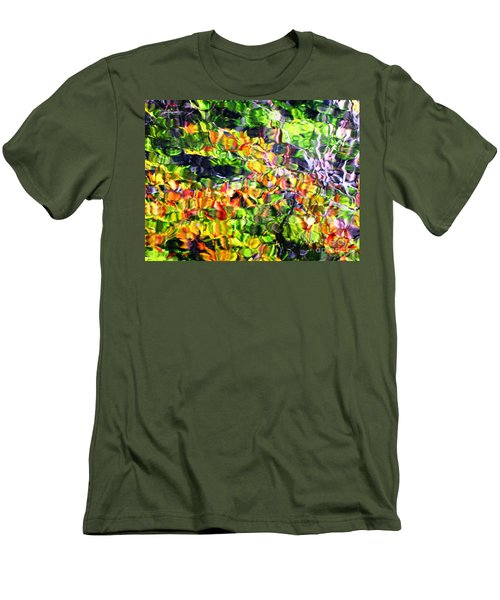 Fall On The Pond Men's T-Shirt (Slim Fit) by Melissa Stoudt