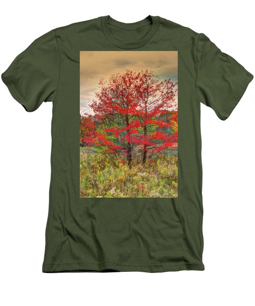 Men's T-Shirt (Slim Fit) featuring the photograph Fall Painting by Skip Tribby