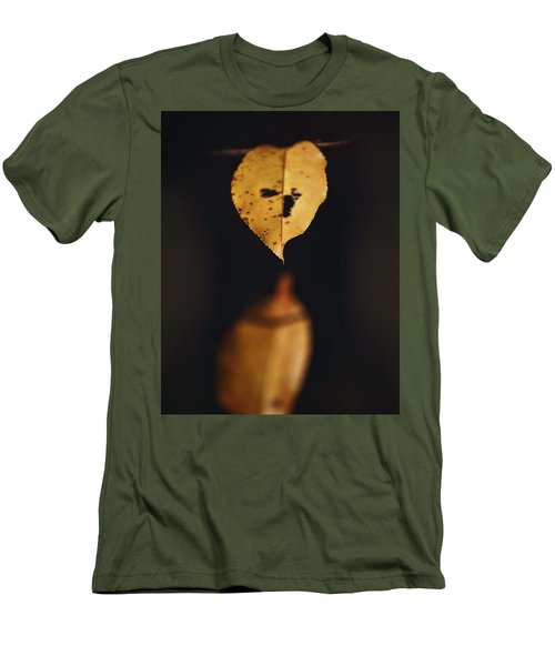 Men's T-Shirt (Slim Fit) featuring the photograph Fall Reflections by Eduard Moldoveanu
