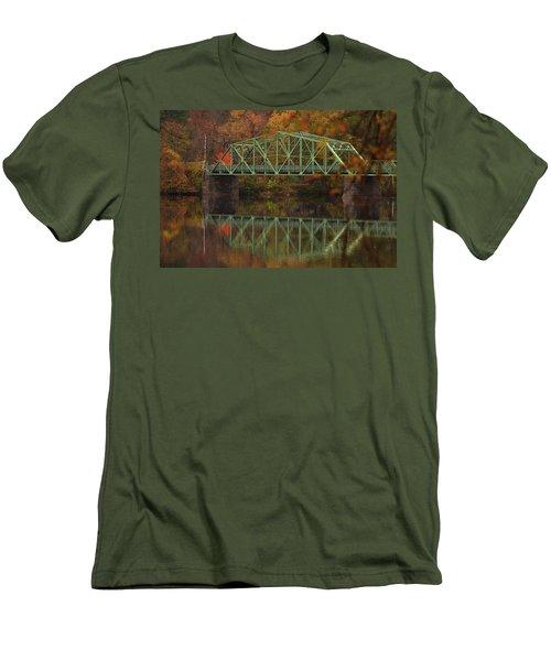 Fall Rocks Village Bridge Men's T-Shirt (Athletic Fit)