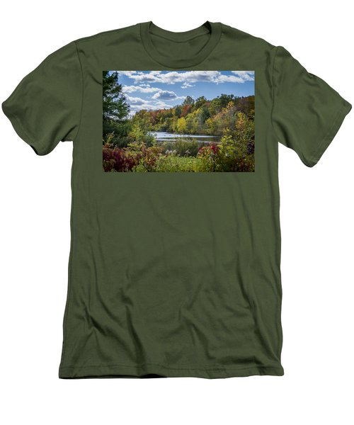 Fall Time On The Lake Men's T-Shirt (Slim Fit)