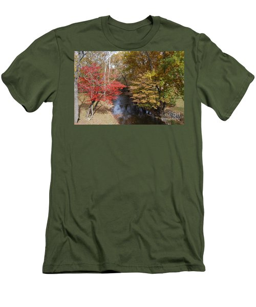 Men's T-Shirt (Slim Fit) featuring the photograph Fall Transition by Eric Liller