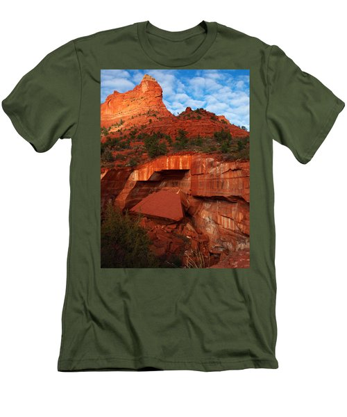 Men's T-Shirt (Slim Fit) featuring the photograph Fallen by James Peterson