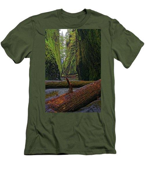 Men's T-Shirt (Slim Fit) featuring the photograph Fallen by Jonathan Davison