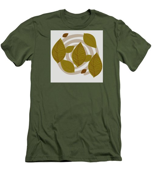 Falling Leaves Men's T-Shirt (Slim Fit) by Kandy Hurley