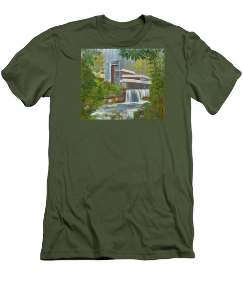 Men's T-Shirt (Slim Fit) featuring the painting Falling Water by Jamie Frier