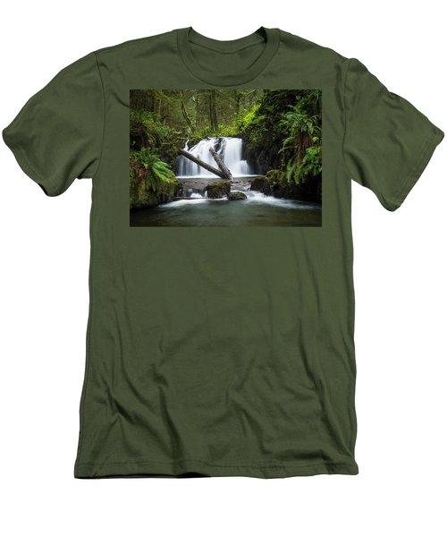 Falls On Canyon Creek Men's T-Shirt (Athletic Fit)