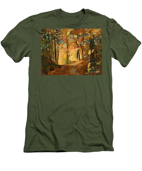 Fall's Radiance In Quebec Men's T-Shirt (Athletic Fit)