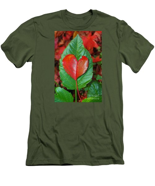 Men's T-Shirt (Slim Fit) featuring the photograph Fall's Vibrant Contrast by Debra Thompson