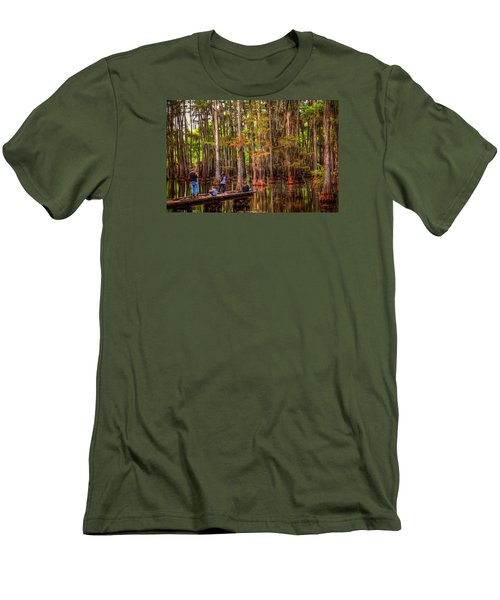 Family Bayou Fishing Men's T-Shirt (Slim Fit) by Ester  Rogers