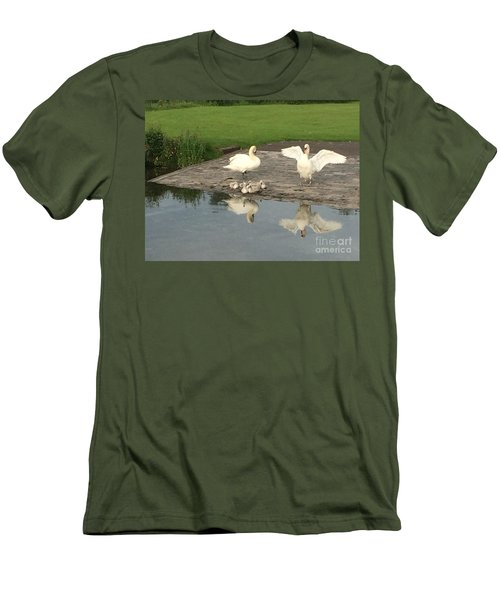 Men's T-Shirt (Slim Fit) featuring the photograph Family Outing by David Grant