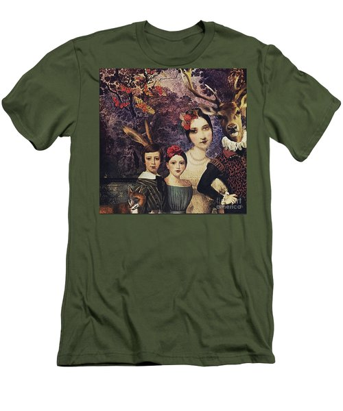 Men's T-Shirt (Slim Fit) featuring the digital art Family Portrait by Alexis Rotella