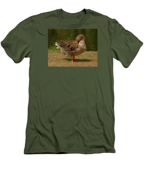 Men's T-Shirt (Slim Fit) featuring the photograph Fancy Goose by Ramona Whiteaker
