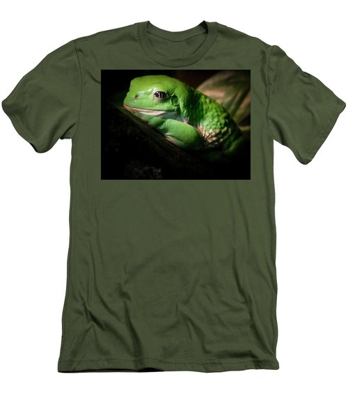 Men's T-Shirt (Slim Fit) featuring the photograph Fantastic Green Frog by Jean Noren