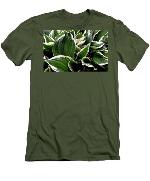 Fantasy In White And Green Men's T-Shirt (Slim Fit) by Dorin Adrian Berbier