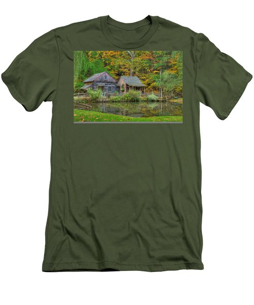 Farm In Woods Men's T-Shirt (Athletic Fit)