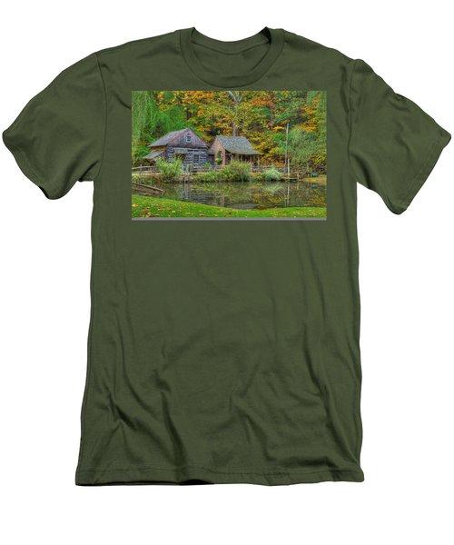 Farm In Woods Men's T-Shirt (Athletic Fit)