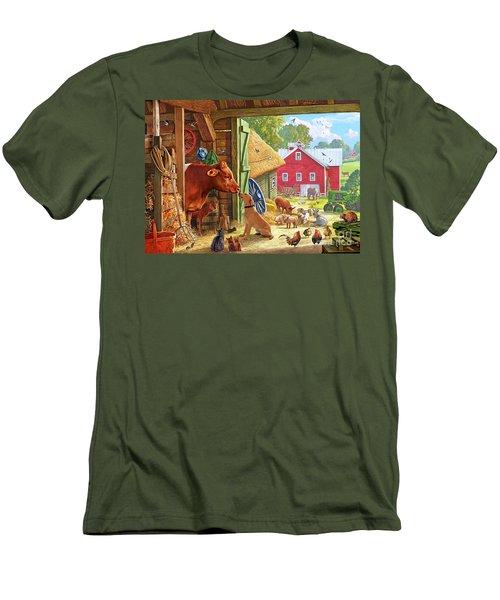 Farm Scene In America Men's T-Shirt (Athletic Fit)