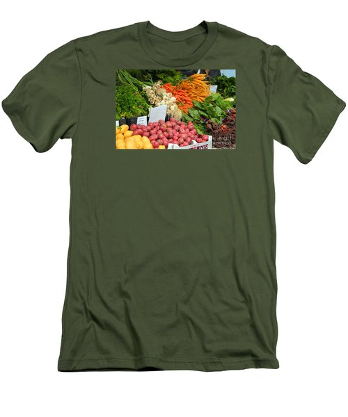 Men's T-Shirt (Slim Fit) featuring the photograph Farmer's Market by Jeanette French