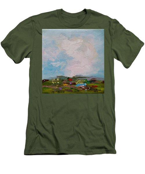 Farmland II Men's T-Shirt (Slim Fit) by Judith Rhue