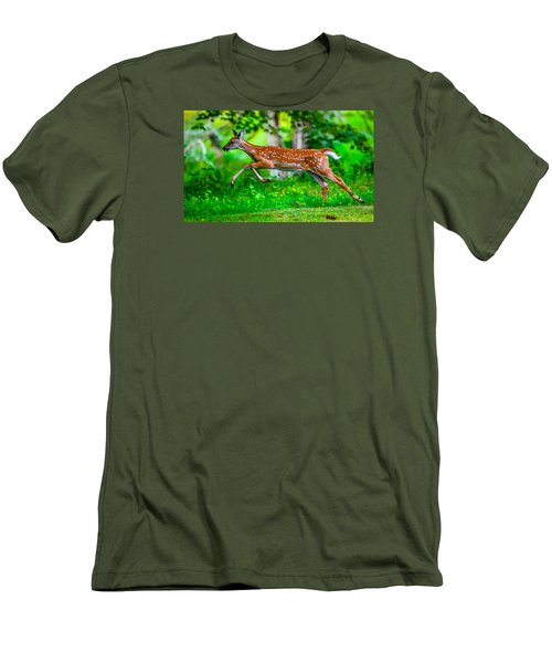 Fast Fawn 2 Men's T-Shirt (Slim Fit) by Brian Stevens