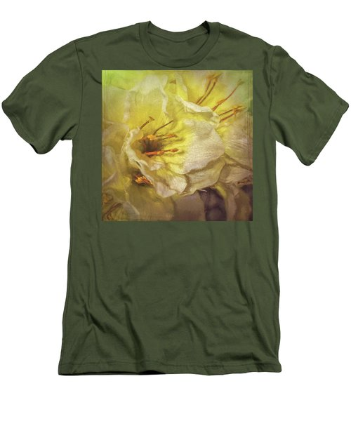 Men's T-Shirt (Athletic Fit) featuring the photograph Faux Flowers by Lewis Mann