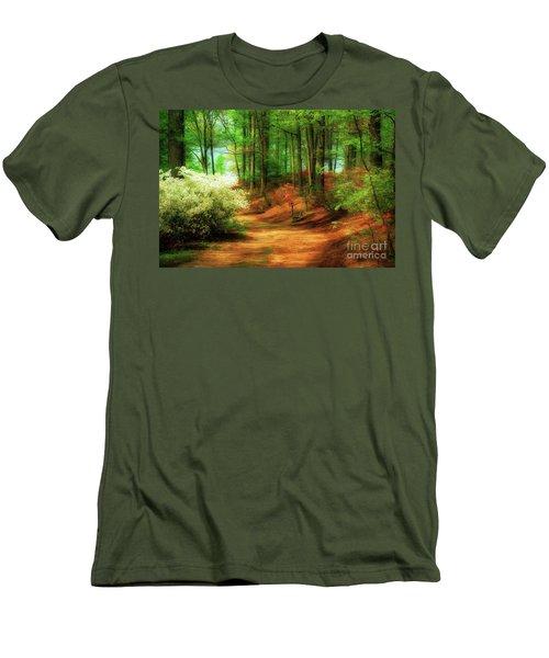 Favorite Path Men's T-Shirt (Slim Fit) by Lois Bryan