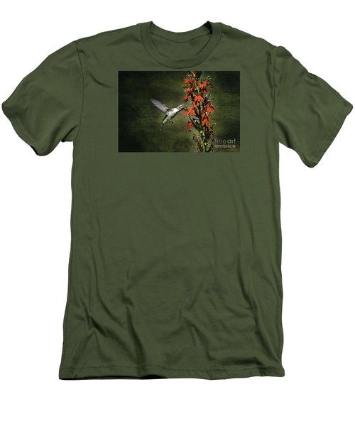 Men's T-Shirt (Slim Fit) featuring the photograph Feasting by Judy Wolinsky