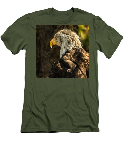 Men's T-Shirt (Slim Fit) featuring the photograph Feathers In Light by Yeates Photography