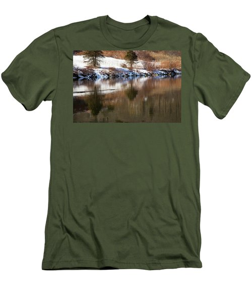 Men's T-Shirt (Slim Fit) featuring the photograph February Reflections by Karol Livote