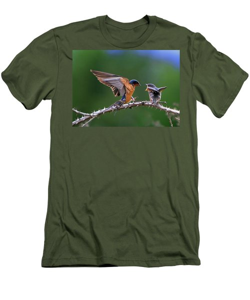 Men's T-Shirt (Slim Fit) featuring the photograph Feed Me by William Lee