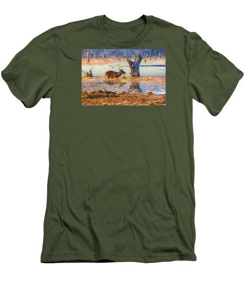Feeding In The Lake Men's T-Shirt (Slim Fit) by Pravine Chester