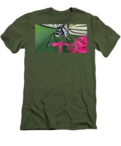 Men's T-Shirt (Slim Fit) featuring the photograph Feeding Rice Paper by Richard Bryce and Family