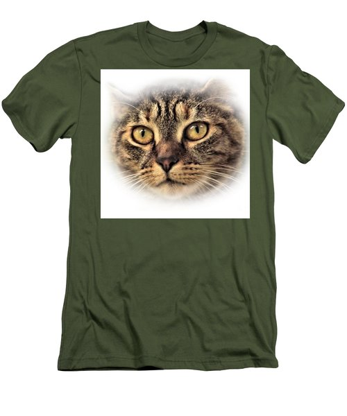 Men's T-Shirt (Slim Fit) featuring the photograph Feline by Debbie Stahre