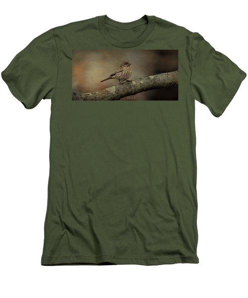 Female House Finch Men's T-Shirt (Slim Fit) by Diane Giurco