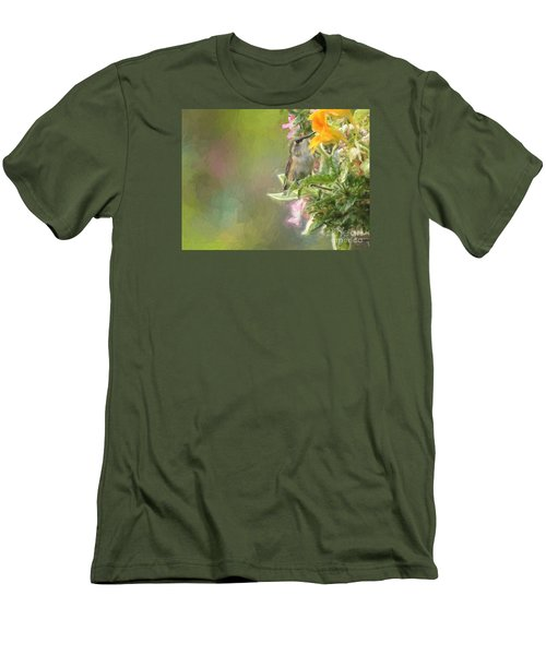 Female Rufous Hummingbird Men's T-Shirt (Slim Fit) by Suzanne Handel