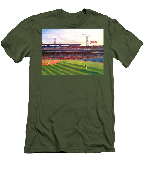 Fenway Park Men's T-Shirt (Slim Fit) by Rose Wang