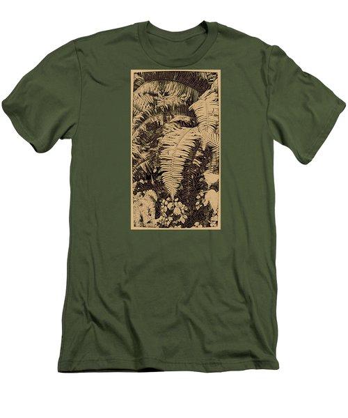 Fern Art No4 Men's T-Shirt (Slim Fit) by Bonnie Bruno
